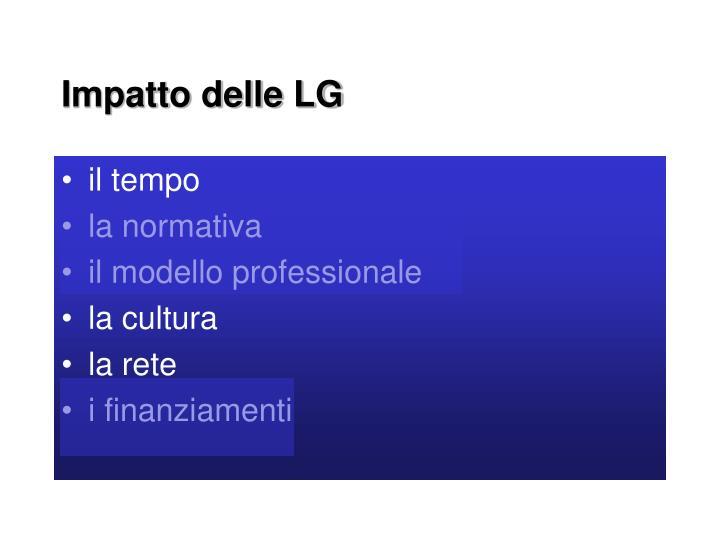 Impatto delle LG