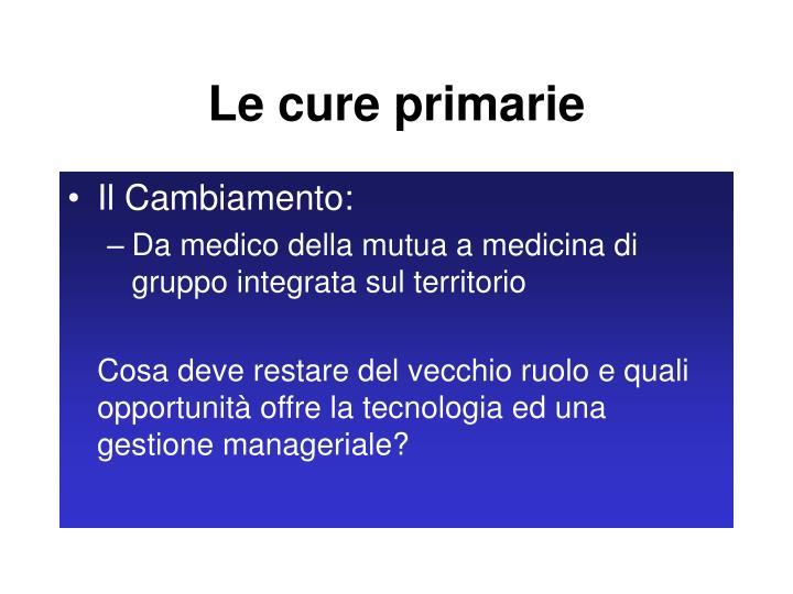 Le cure primarie