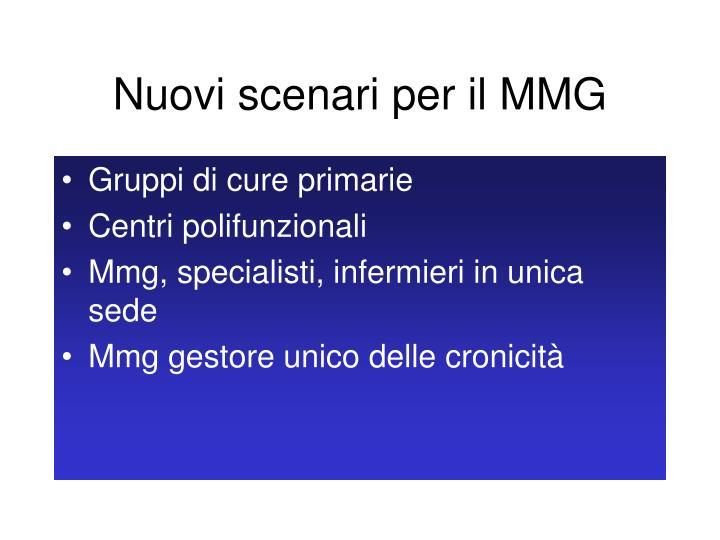 Nuovi scenari per il MMG