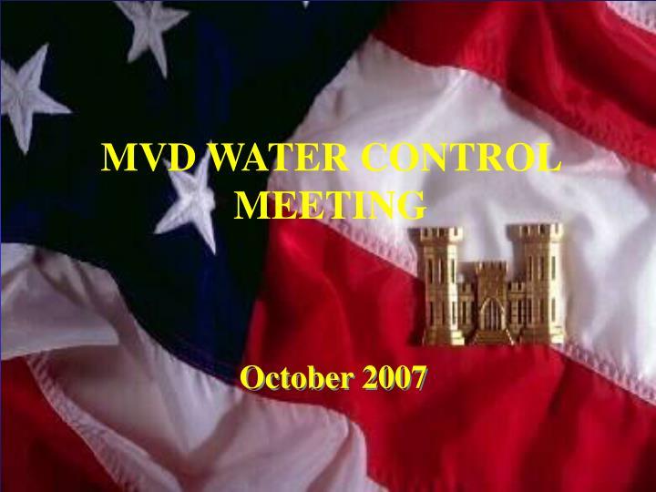 mvd water control meeting n.