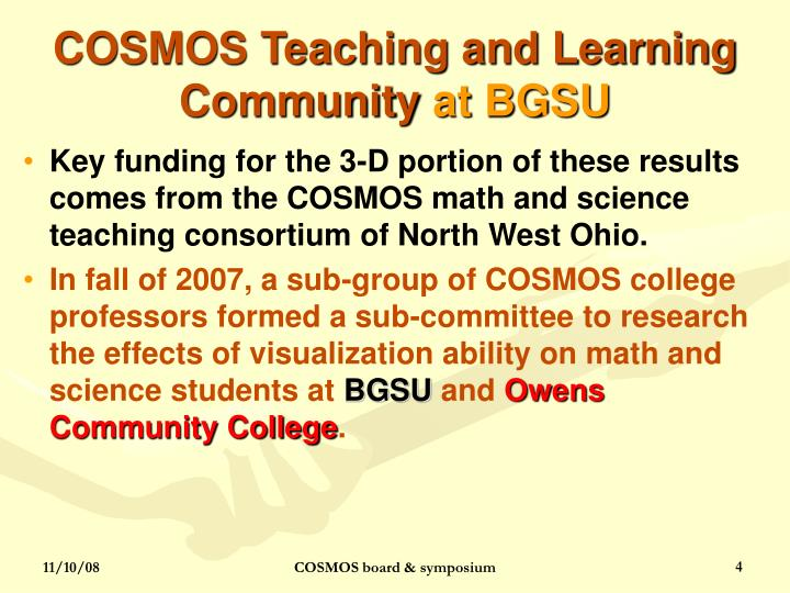 COSMOS Teaching and Learning Community