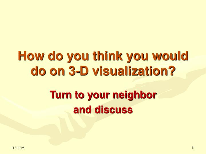 How do you think you would do on 3-D visualization?