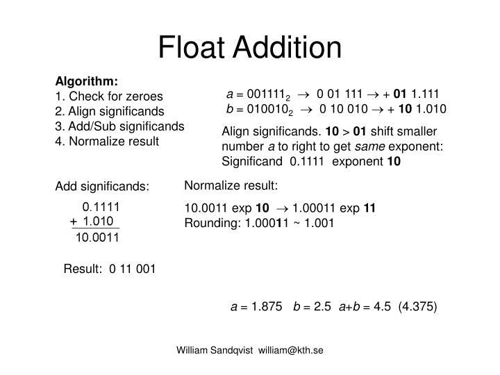 Float Addition