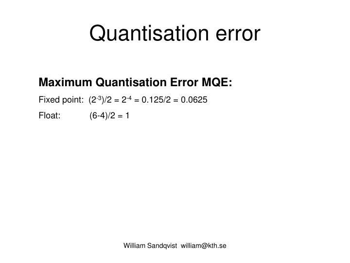 Quantisation error