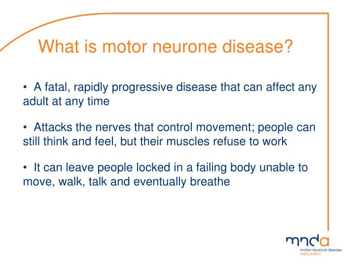 What is motor neurone disease
