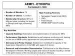 aemfi ethiopia formalized in 1999