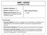 amfi kenya formalized in 1999