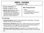 amfiu uganda formalized in 1999