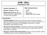 apim mali formalized in 1999