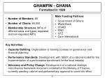 ghamfin ghana formalized in 1998