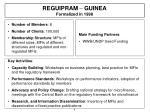 reguipram guinea formalized in 1998