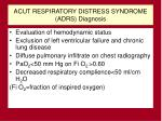 acut respiratory distress syndrome adrs diagnosis