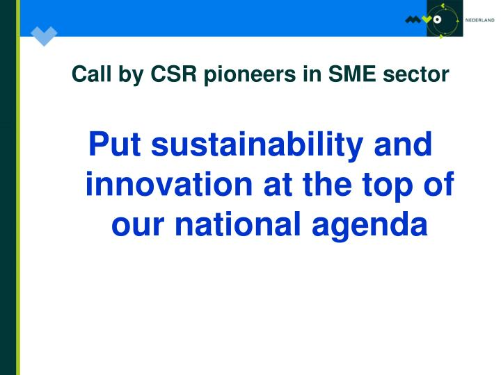 Call by CSR pioneers in SME sector