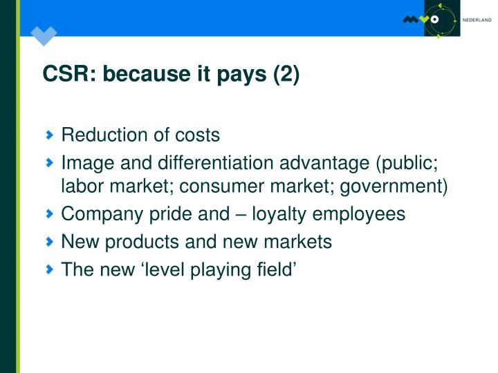 CSR: because it pays (2)