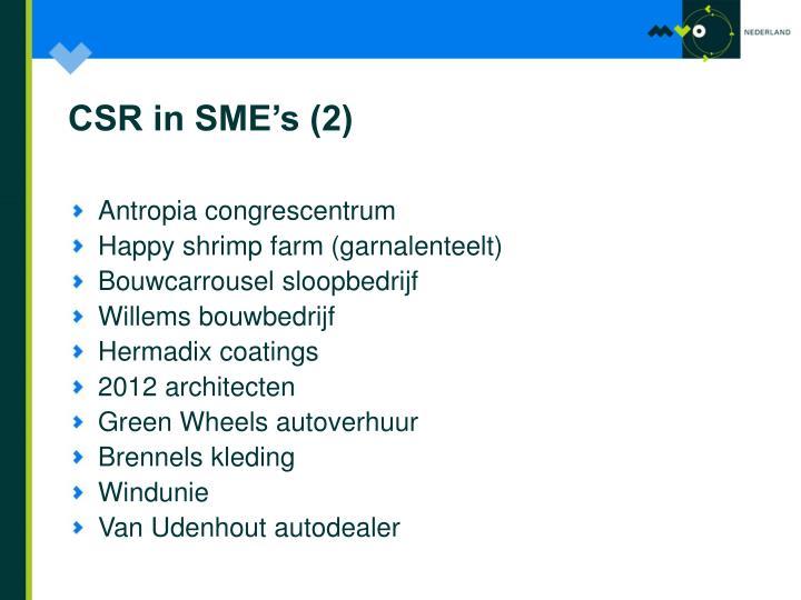 CSR in SME's (2)