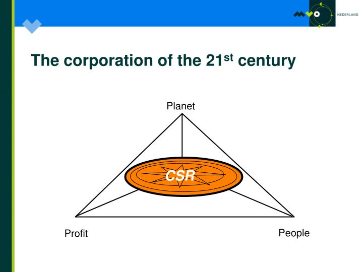The corporation of the 21