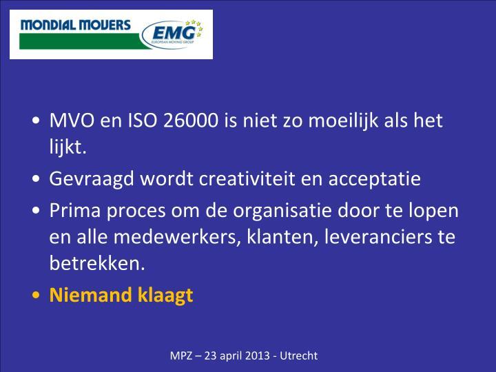 MVO en ISO 26000 is niet zo moeilijk als het lijkt.