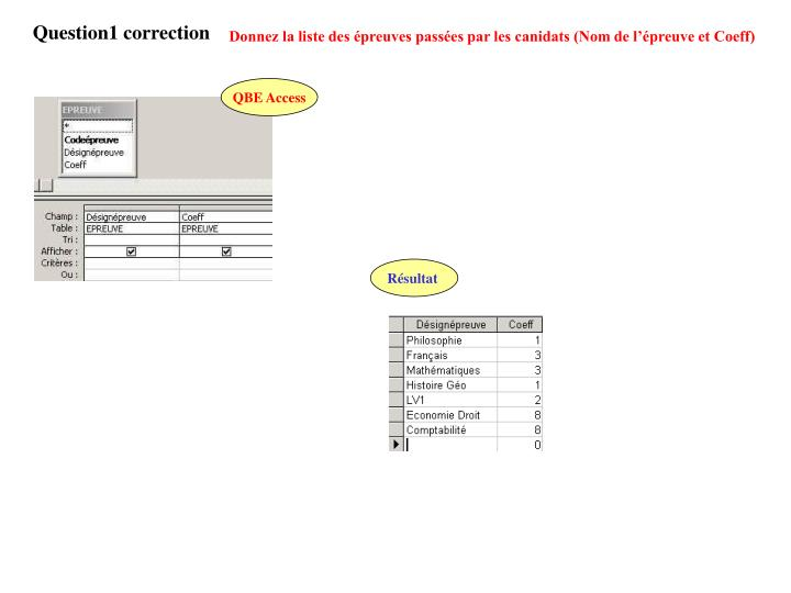Question1 correction