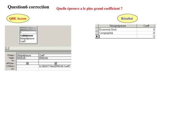 Question6 correction