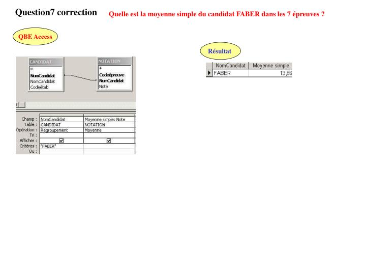 Question7 correction