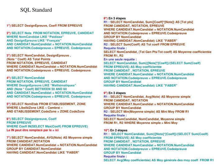 SQL Standard
