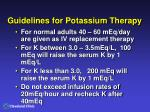 guidelines for potassium therapy