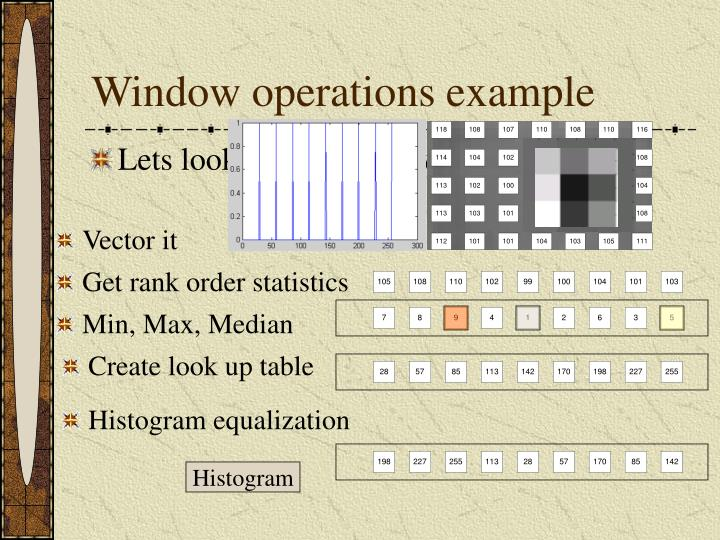 Window operations example