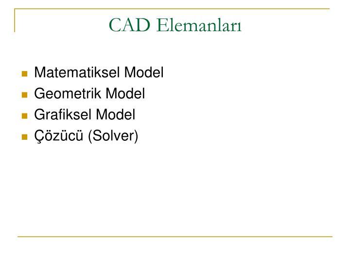 CAD Elemanları