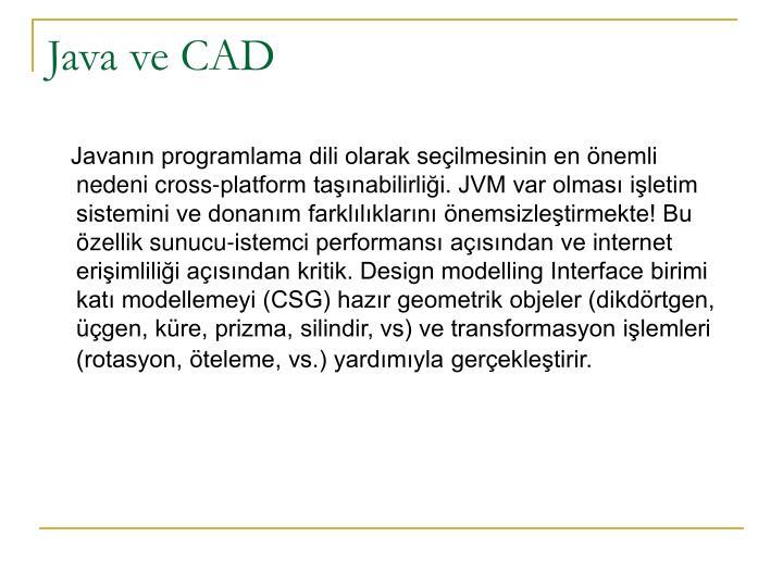 Java ve CAD