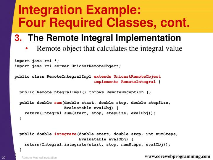 Integration Example: