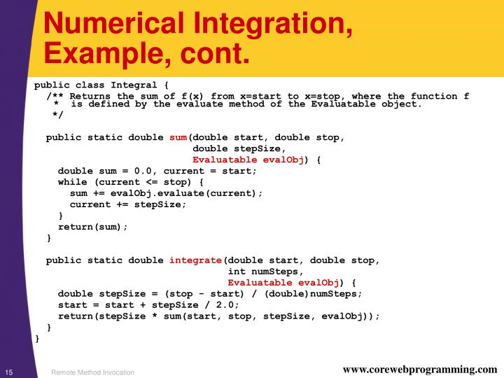 Numerical Integration,