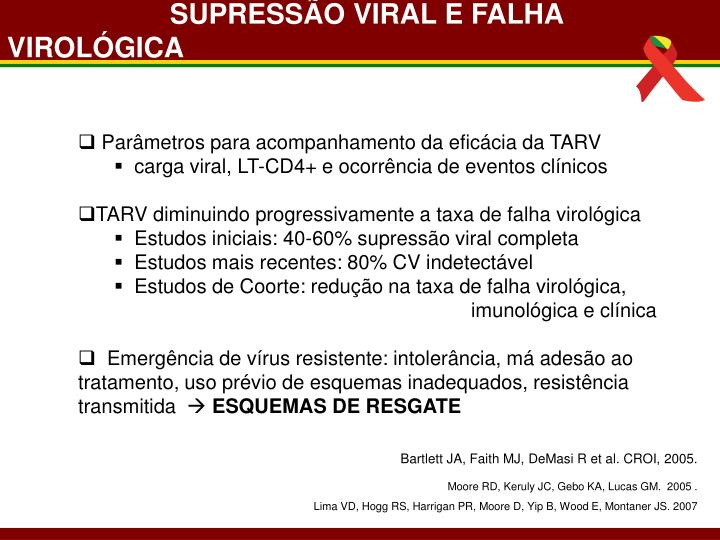 SUPRESSÃO VIRAL E FALHA VIROLÓGICA