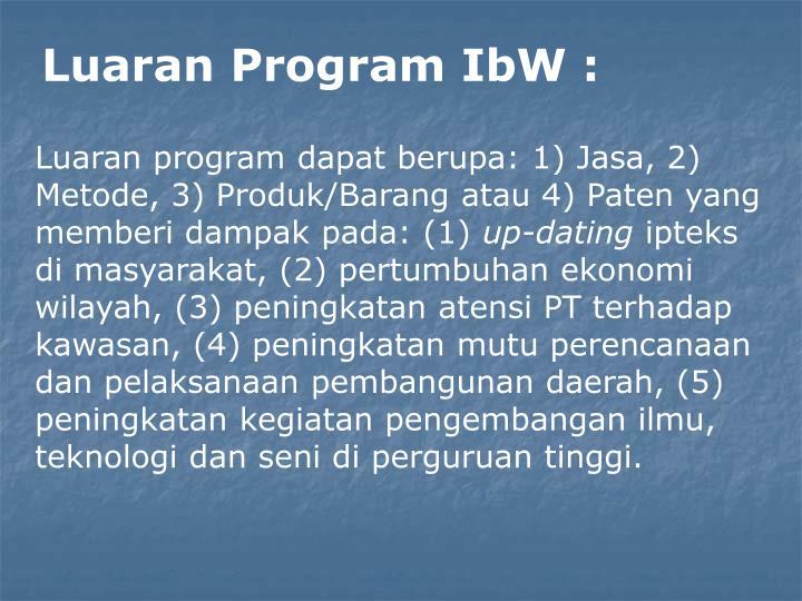 Luaran Program IbW :