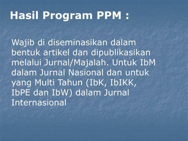 Hasil Program PPM :
