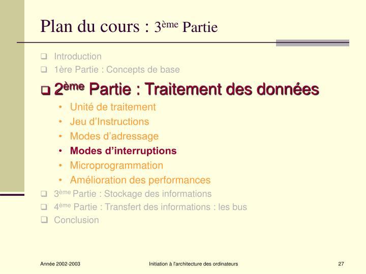 Plan du cours :