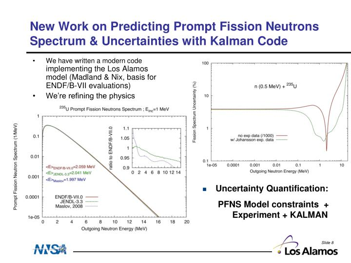 New Work on Predicting Prompt Fission Neutrons Spectrum & Uncertainties with Kalman Code