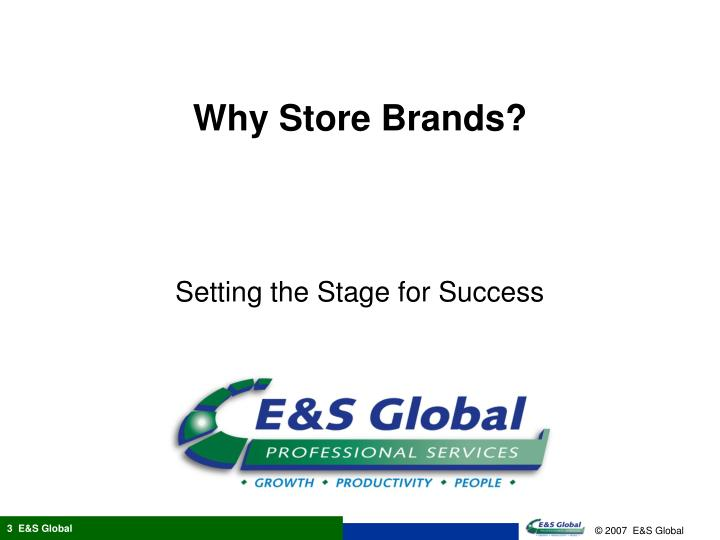 Why store brands