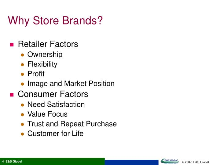 Why Store Brands?