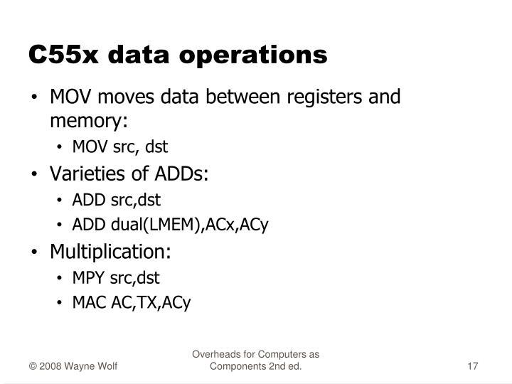 C55x data operations