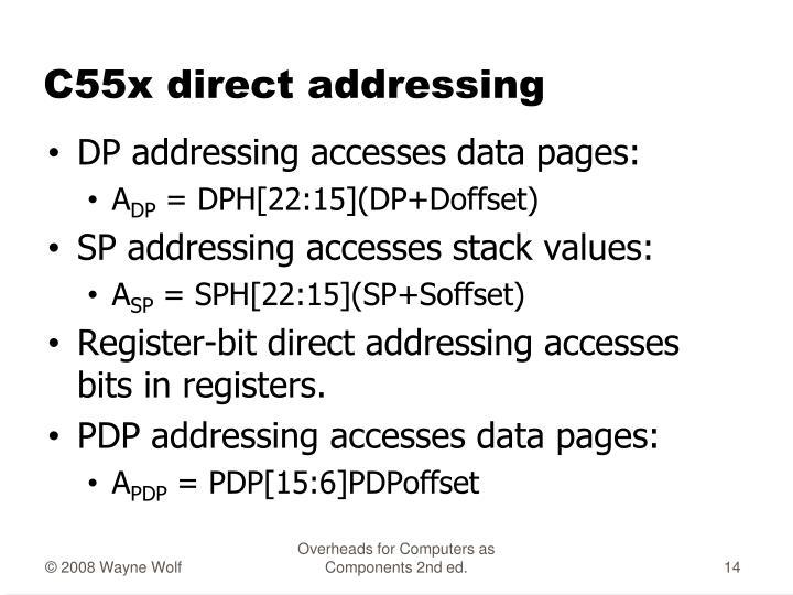 C55x direct addressing