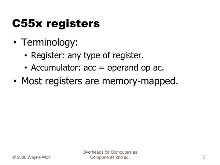 C55x registers