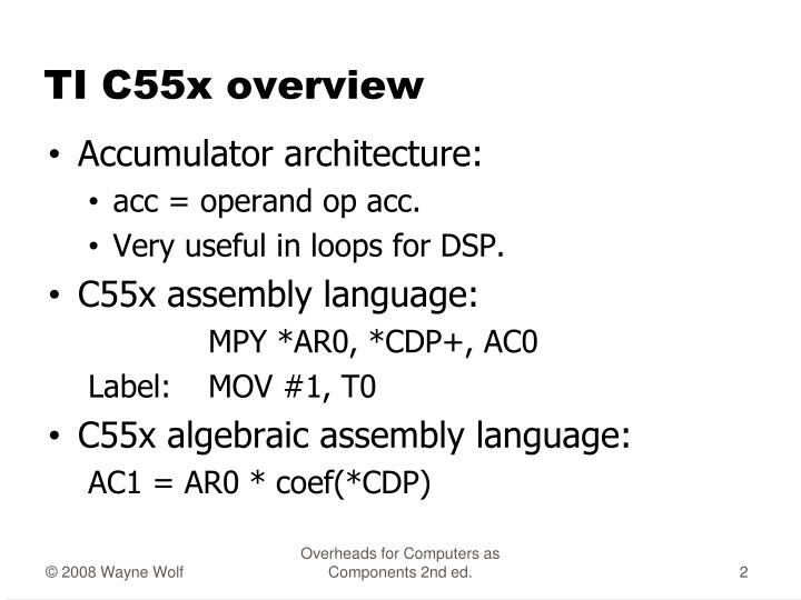 Ti c55x overview