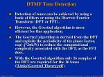 dtmf tone detection