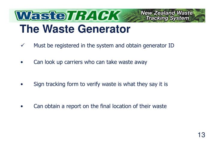 The Waste Generator