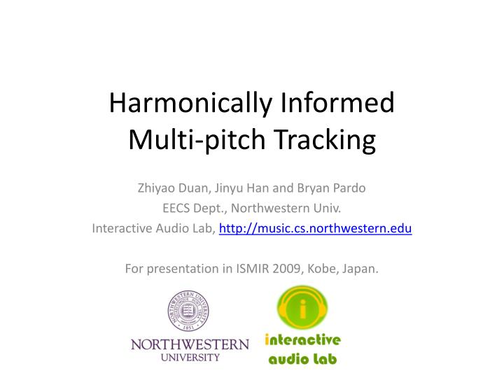 Harmonically informed multi pitch tracking