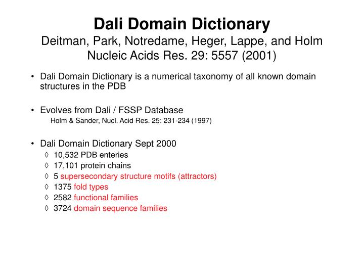 Dali Domain Dictionary
