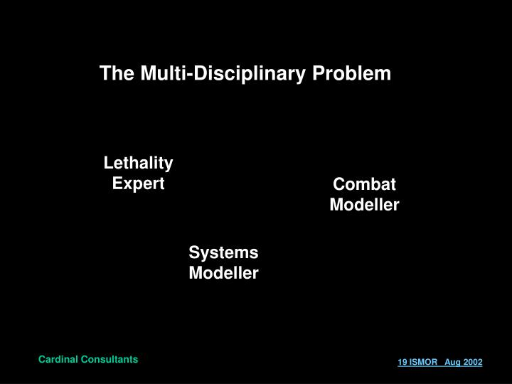 The Multi-Disciplinary Problem