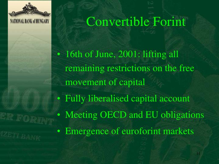 Convertible Forint