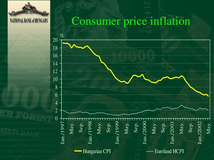 Consumer price inflation