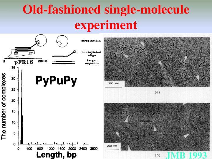 Old-fashioned single-molecule experiment